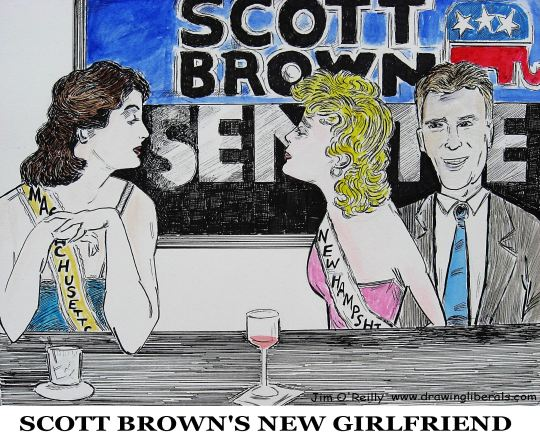 Scott Brown is all aboard the Trump train now.